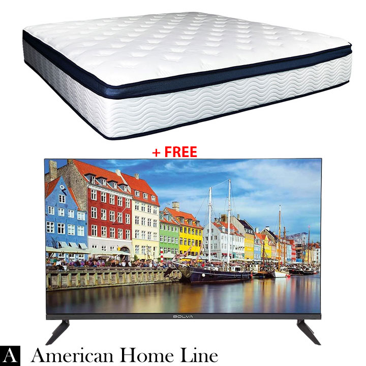 "Sleep Rest 13"" Comfort-Top Plush King Mattress + FREE Bolva 32'' HD LED TV"