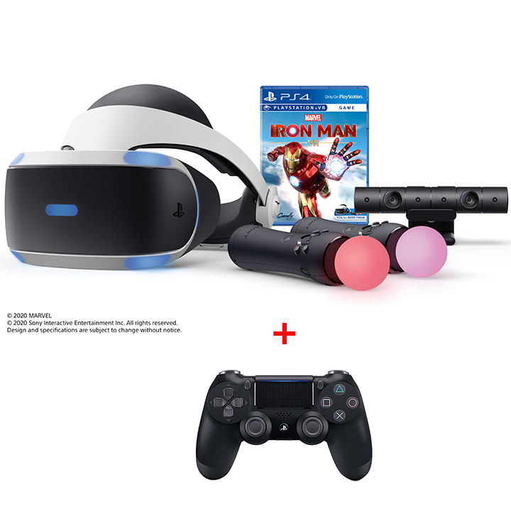 PlayStation®VR Marvel's Iron Man VR + PS4 Dualshock 4 Wireless Controller Bundle