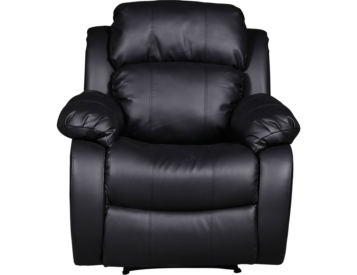 Superb Bonded Leather Recliner Chair Black Pdpeps Interior Chair Design Pdpepsorg