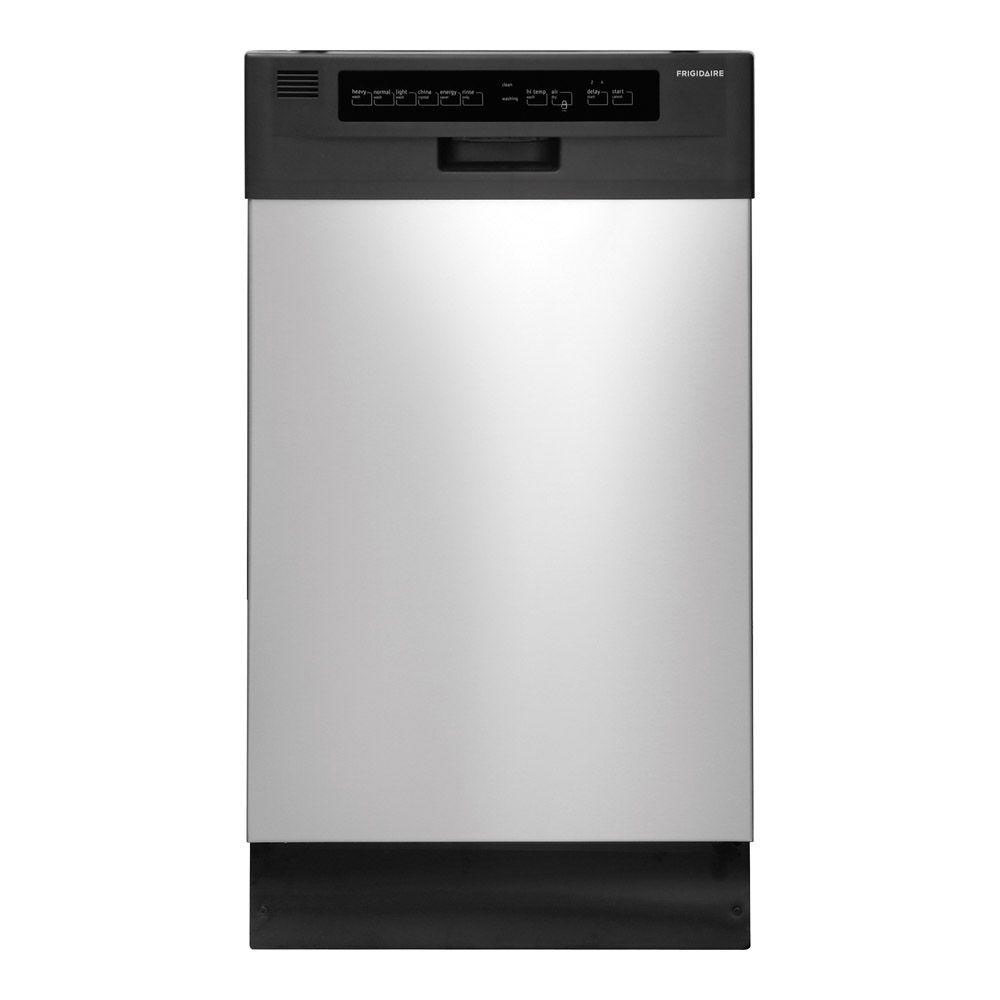 "Frigidaire 18""  Built-In Dishwasher  in Stainless Steel/Black"