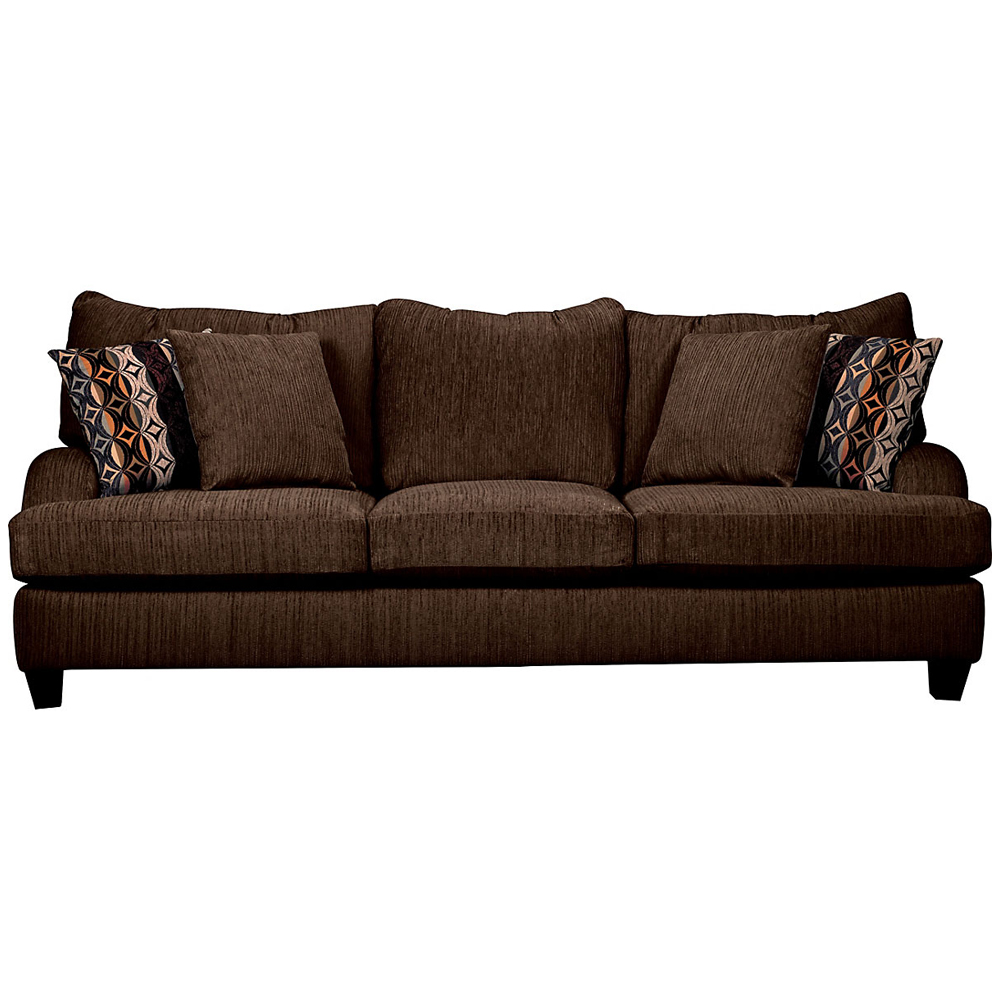 Alexa Chenille Sofa in Chocolate